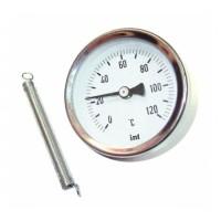 Watts  03.08.060  FR810(ТАВ) 63/120  Watts Термометр биметаллический накладной