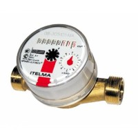 ITELMA  Счетчик горячей воды WFW20.D080 Ду=15мм, L=80мм (доп.выписать присоединительный комплект Ду=15 080/110)