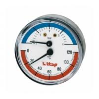 Itap  485 1/2 Термоманометр, осевое подключение  ITAP