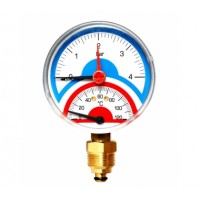 Watts  FR 818(TMAX) 4 Watts Термоманометр аксиальный 1/2