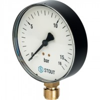 STOUT SIM-0010 Манометр радиальный. Корпус Dn 100 мм 1/2