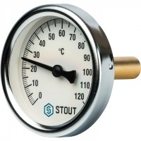 STOUT SIM-0001 Термометр биметаллический с погружной гильзой. Корпус Dn 63 мм, гильза 50 мм 1/2