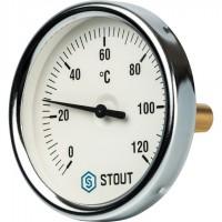 STOUT SIM-0001 Термометр биметаллический с погружной гильзой. Корпус Dn 80 мм, гильза 50 мм 1/2