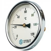 STOUT SIM-0001 Термометр биметаллический с погружной гильзой. Корпус Dn 100 мм, гильза 50 мм 1/2