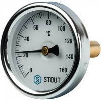 STOUT SIM-0002 Термометр биметаллический с погружной гильзой. Корпус Dn 63 мм, гильза 50 мм 1/ 2