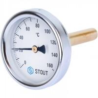 STOUT SIM-002 Термометр биметаллический с погружной гильзой. Корпус Dn 63 мм, гильза 75 мм 1/ 2