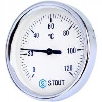 STOUT SIM-003 Термометр биметаллический с погружной гильзой. Корпус Dn 80 мм, гильза 50 мм, резьба с самоуплотнением 1/2