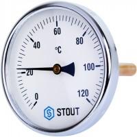 STOUT SIM-0001 Термометр биметаллический с погружной гильзой. Корпус Dn 100 мм, гильза 100 мм 1/2