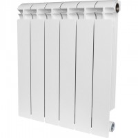 ALPHA 500 6 секций радиатор биметаллический боковое подключение (белый RAL 9016)