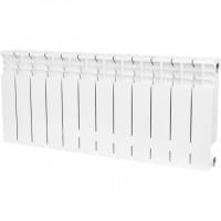 STOUT  Space 350 12 секций радиатор биметаллический боковое подключение RAL9016
