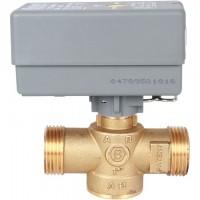 STOUT  2-Ходовой зональный клапан, сервопривод 230V, с 3-х жильным кабелем 1м., НР 1