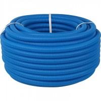 STOUT SPG-0001 Труба гофрированная ПНД, цвет синий, наружным диаметром 25 мм для труб диаметром 20 мм