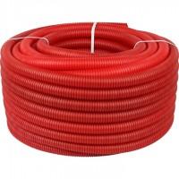 STOUT SPG-0002 Труба гофрированная ПНД, цвет красный, наружным диаметром 32 мм для труб диаметром 25 мм