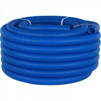 STOUT SPG-0001 Труба гофрированная ПНД, цвет синий, наружным диаметром 40 мм для труб диаметром 32 мм
